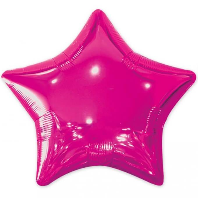 Ballon metallique etoile fuchsia