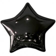 Ballon métallique étoile noir 50cm (x1) REF/BALM0AEN