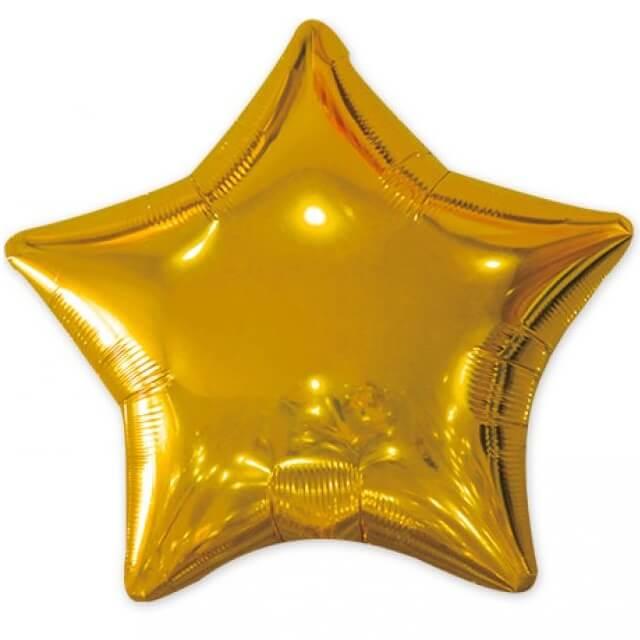 Ballon metallique etoile or