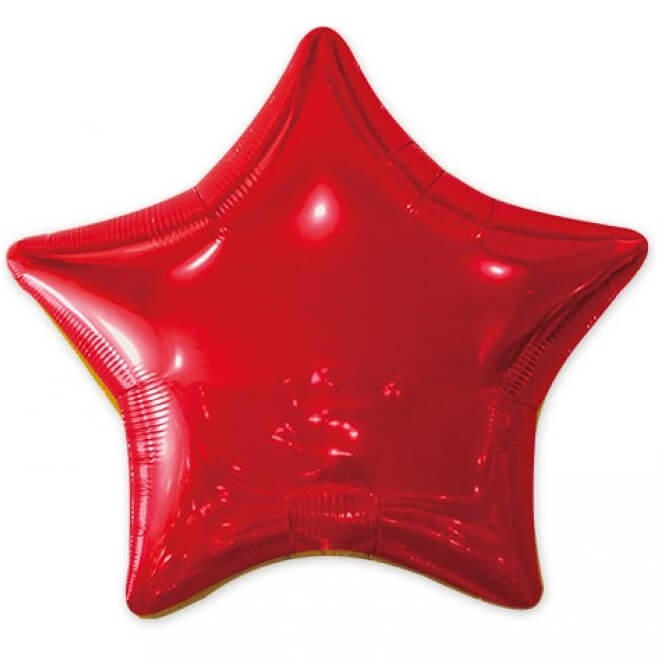 Ballon metallique etoile rouge