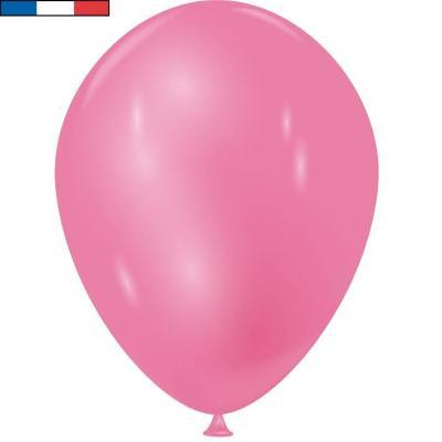 Ballon métallique français en latex fuchsia 30cm (x10) REF/34561