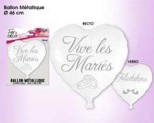 Ballon métallique mariage: Vive les mariés (x1) REF/BALHM