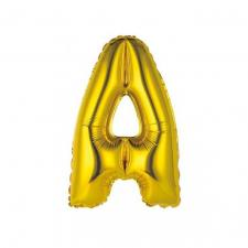 Ballon métallique or lettre A 36cm (x1) REF/BALMORLA