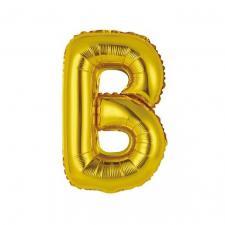 Ballon métallique or lettre B 36cm (x1) REF/BALMORLB