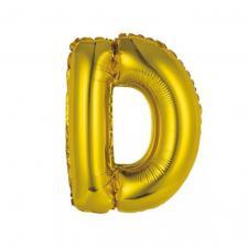 Ballon métallique or lettre D 36cm (x1) REF/BALMORLD