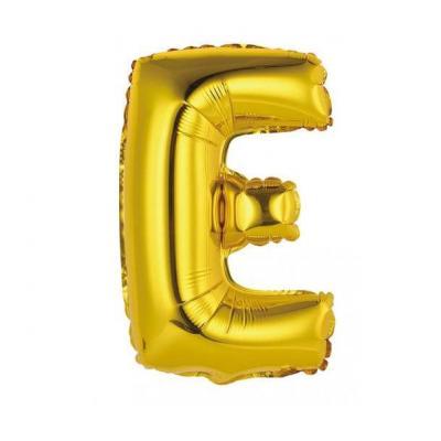 Ballon métallique or lettre E 36cm (x1) REF/BALMORLE