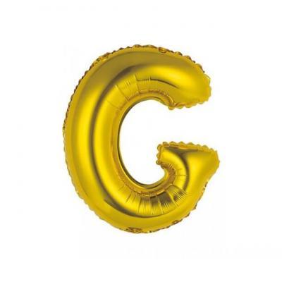Ballon métallique or lettre G 36cm (x1) REF/BALMORLG