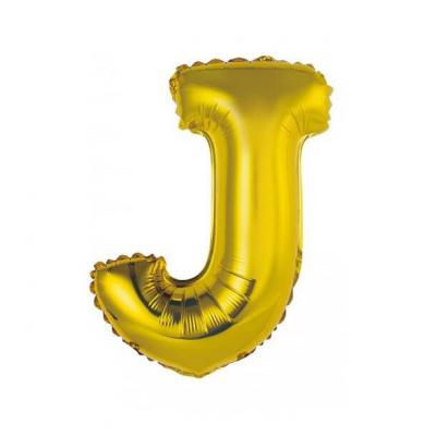 Ballon métallique or lettre J 36cm (x1) REF/BALMORLJ
