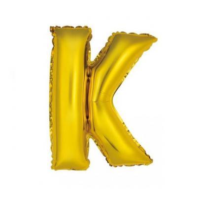 Ballon métallique or lettre K 36cm (x1) REF/BALMORLK