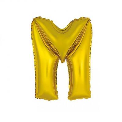 Ballon métallique or lettre M 36cm (x1) REF/BALMORLM