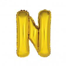 Ballon métallique or lettre N 36cm (x1) REF/BALMORLN