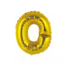Ballon métallique or lettre O 36cm (x1) REF/BALMORLO
