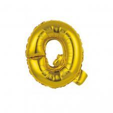 Ballon métallique or lettre Q 36cm (x1) REF/BALMORLQ
