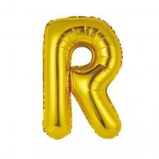 Ballon métallique or lettre R 36cm (x1) REF/BALMORLR