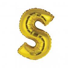 Ballon métallique or lettre S 36cm (x1) REF/BALMORLS