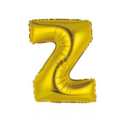 Ballon métallique or lettre Z 36cm (x1) REF/BALMORLZ