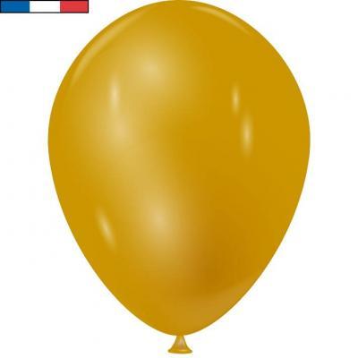 Ballon métallique français en latex or 30cm (x10) REF/34790