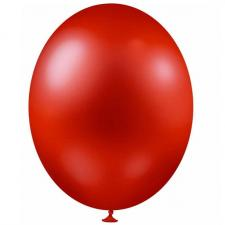 Ballon métallique rouge, 30cm (x25) REF/BALC07