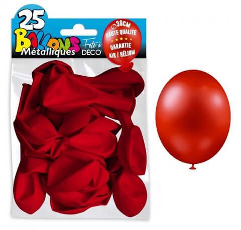 Ballon metallique rouge