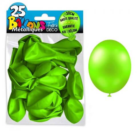 Ballon metallique vert pomme