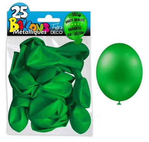 Ballon metallique vert