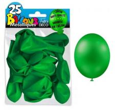 Ballon métallique vert, 30cm (x25) REF/BALC13