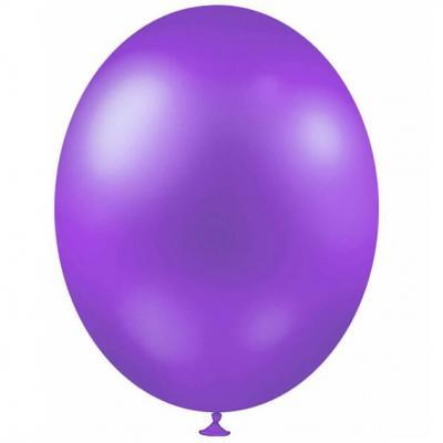 Ballon métallique violet clair, 30cm (x25) REF/BALC17