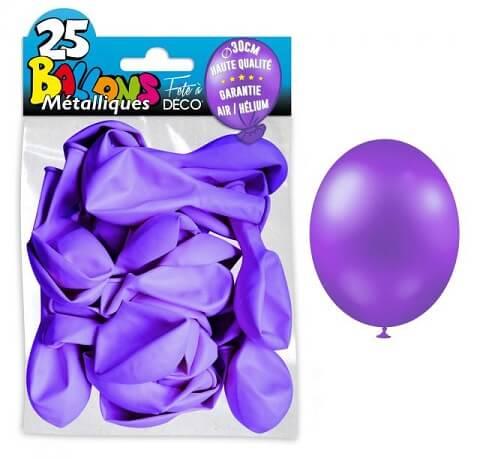 Ballon metallique violet clair