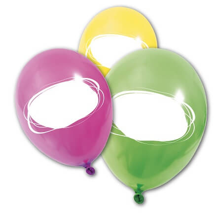 Ballon multicolore a personnaliser