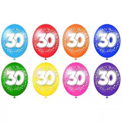 Ballon anniversaire 30ans (x8) REF/BAL04