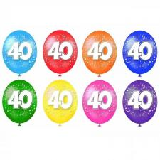 Ballon anniversaire 40ans (x8) REF/BAL05