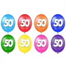 Ballon anniversaire 50ans (x8) REF/BAL06