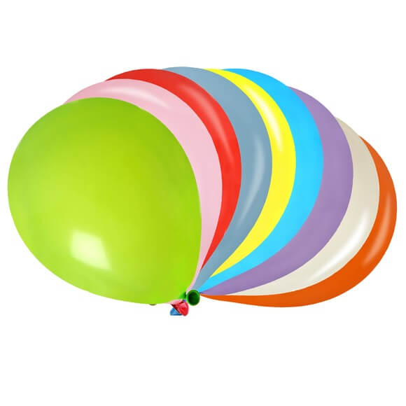 Ballon multicolore en latex x50