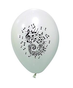 Ballon musique blanc