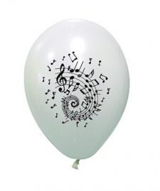 Ballon musique blanc (x8) REF/BAL231