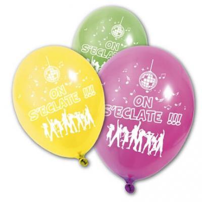 Ballon multicolore: On s'éclate (x8) REF/BA1470