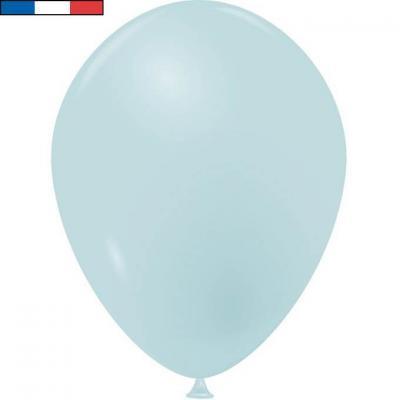 Ballon opaque français en latex bleu pastel 25cm (x10) REF/52015