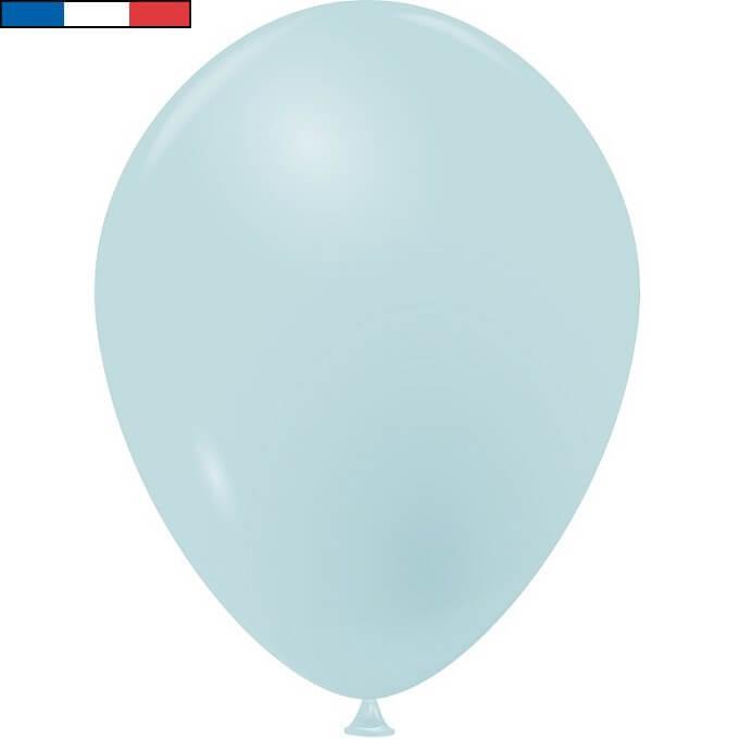 Ballon opaque bleu pastel latex naturel