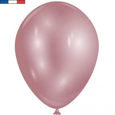 Ballon opaque rose gold diamant Quartz avec effet Chrome 30cm (x8) REF/52435