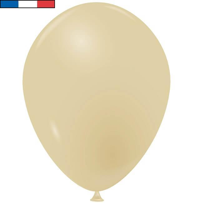 Ballon opaque en latex de fabrication francaise beige 25cm