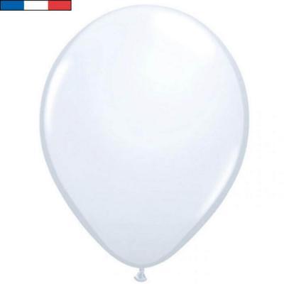 Ballon opaque français en latex blanc 25cm (x10) REF/10947