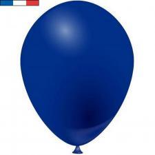 Ballon opaque français en latex bleu marine 25cm (x10) REF/49503