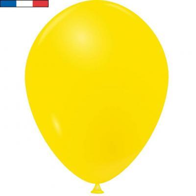 Ballon opaque français en latex jaune 25cm (x10) REF/10916