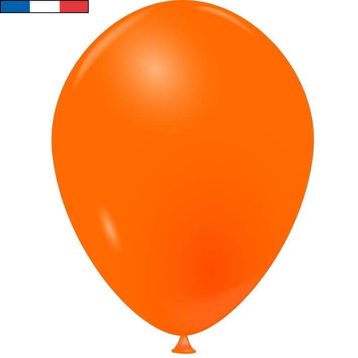 Ballon opaque en latex fabrication francaise 25cm orange