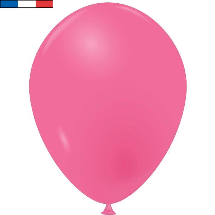 Ballon opaque en latex fabrication francaise 25cm rose bonbon fuchsia