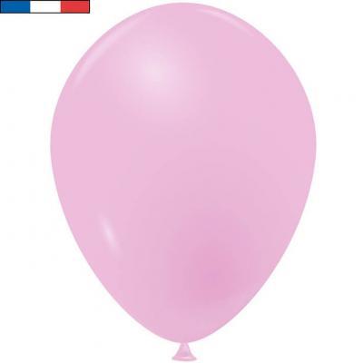Ballon opaque français en latex rose 25cm (x10) REF/10954