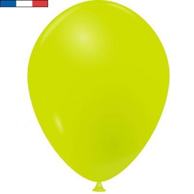 Ballon opaque français en latex vert tilleul 25cm (x10) REF/31621