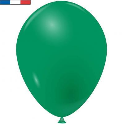 Ballon opaque français en latex vert 25cm (x10) REF/10923