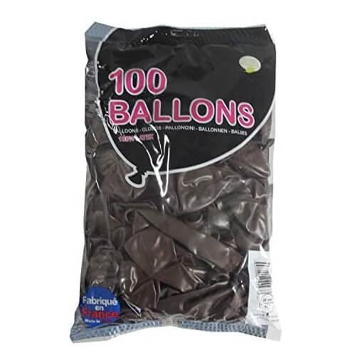 Ballon opaque en latex francais chocolat