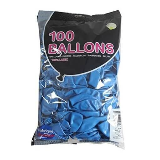 Ballon opaque francais bleu en latex